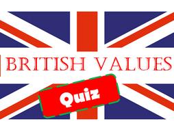 32 British Values Question Paper/Exam/Quiz Multiple choice