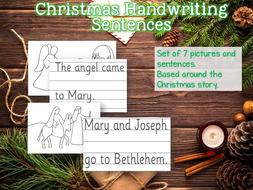 Christmas Story Handwriting Sheets for EYFS SEN