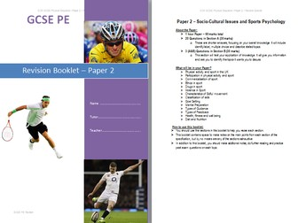 New OCR GCSE PE Paper 2 Revision Booklet