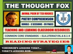 THE THOUGHT FOX BY TED HUGHES - CLASSROOM RESOURCES - BUNDLE