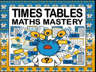 TIMES TABLES RESOURCES TEACHING RESOURCES MATHS MASTERY POSTERS DISPLAY