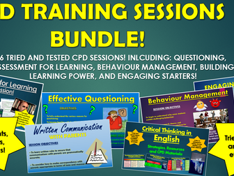 CPD Training Sessions Bundle!