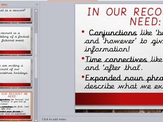 Christmas Holiday Recount Powerpoint Presentation