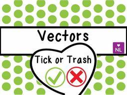 Vectors Tick or Trash