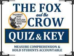 """The Fox & The Crow"" by Aesop - Quiz & Key 