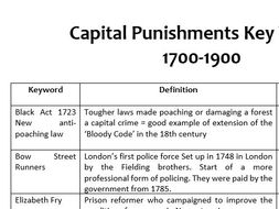 GCSE Capital Punishment Key Words Tasks