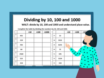Dividing by 10, 100 and 1000-Ideal for Home Learning (Place Value- 2 worksheets)