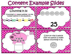 Counting Money - Five Pence Coins (PowerPointand Worksheet)