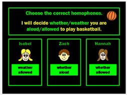 Homophones PPT Powerpoint Game by Grammatickx