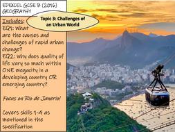 Challenges of an Urban World - Rio de Janeiro - Edexcel GCSE Geography B