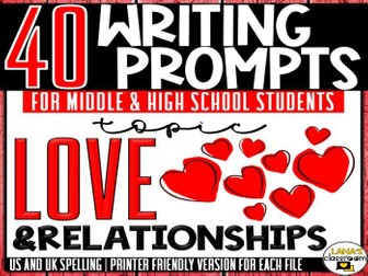 Daily Writing Prompts | Love and Romance | Middle and High School