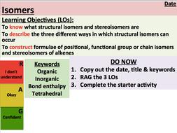 KS5 Chemistry: Isomers (AS Level)