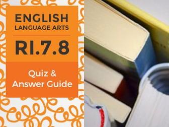 RI.7.8 - Quiz and Answer Guide
