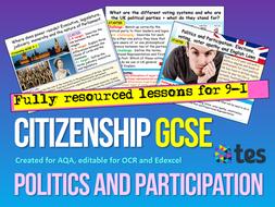 Politics and Participation Citizenship GCSE AQA