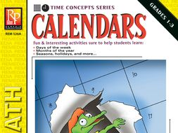 Calendars: Beginning Vocabulary & Time Concepts
