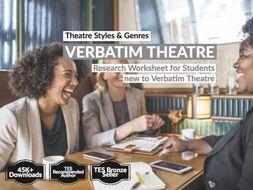 Verbatim Theatre Information Sheet