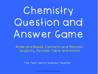 Chemistry Question and Answer Review Game