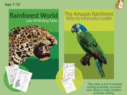 Lots Of Writing Tasks About The Rainforest (7-13 years)
