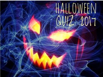 HALLOWEEN 2017. Happy Halloween Quiz