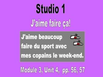 Studio 1, Module 3, Unit 4: J'aime faire ça!