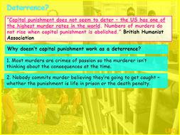Edexcel GCSE Religious Studies B (2016): Crime and Punishment - Capital Punishment