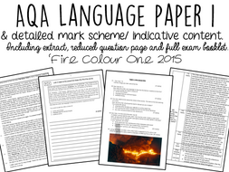 AQA English Language Paper 1 WITH INDICATIVE CONTENT