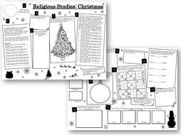 Christmas Activities: Religious Studies