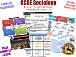 Life Chances (II) - Social Stratification -L7/20 [ AQA GCSE Sociology - 8192] Devine