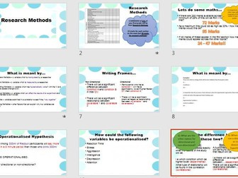 Hypotheses and Variables Research Methods