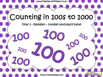 Counting in 100s to 1000