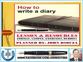 DIARY WRITING READY TO USE PRESENTATION
