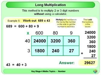 Long Multiplication - Grid Method KS4