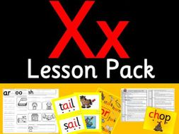 Phonics Worksheets, Lesson Plan, Flashcards  Jolly Phonics Letter X Lesson  Pack