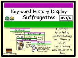 Suffragettes Display