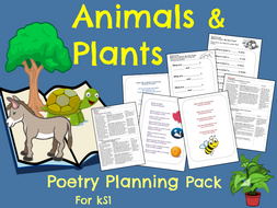 'Animals and Plants'  Poetry Planning Year 1 and 2