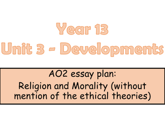 edexcel a level religious studies revision bundle by nslater edexcel legacy a level religious studies ao2 essay plan for religion and morality unit