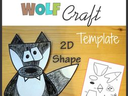Wolf Craft Template Cut and Paste