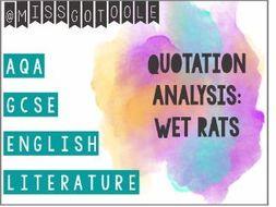 Quotation Analysis using WET RATS