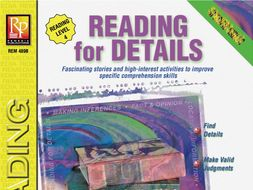 Reading for Details for Reading Level 4: Specific Skills Series