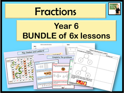 Maths- fractions BUNDLE Year 6!