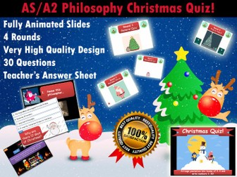 AQA Philosophy Christmas Quiz (AS/A2) [Xmas, End of Term, Fun, Revision] (New Specifcation)