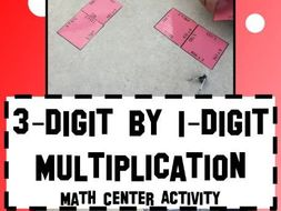 Multiplication Three Digit by One Digit Math Center Magic Square