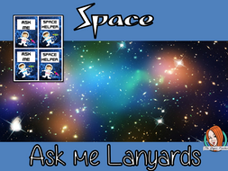 Space Classroom Themed 'Ask Me' Lanyards