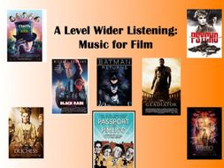 Music for Film: Wider Listening Pack
