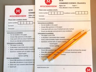 GCSE AQA Biology Combined science 2020 PREDICTED PAPER
