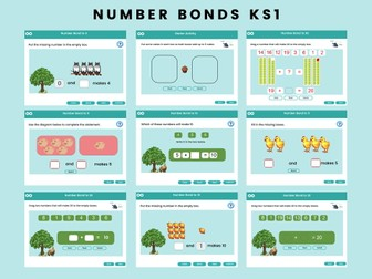 Number Bonds - Year 1, Key stage 1, (US Kindergarten)