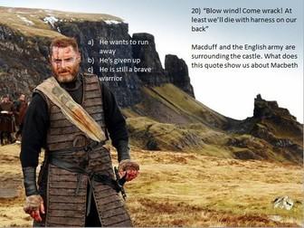 Macbeth Revision Quiz - with quotes