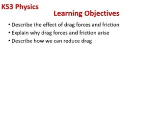 Drag and Friction