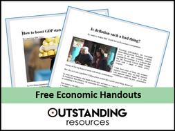 Economic Handouts - Economic Growth (8 Newspaper Articles)
