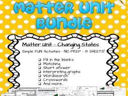 Matter Unit Bundle - Changing States
